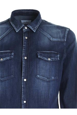 COTTON DENIM SHIRT IN FADED BLUE DONDUP | 6 | UC173DS0278UAS9DU800