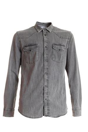 DENIM WESTERN BASIC SHIRT IN GREY DONDUP | 6 | UC173DS0279UED2DU999