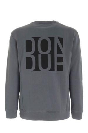 BLACK LOGO PRINT SWEATSHIRT IN GREY DONDUP | -108764232 | UF631KF0151UPTDDU908