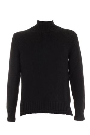 KNITTED TURTLENECK IN BLACK DONDUP | 10000016 | UT031M00725U002DU999