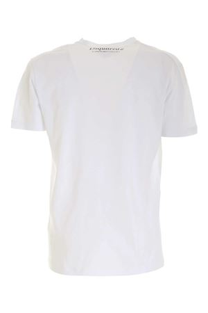 3D EFFECT PRINT T-SHIRT IN WHITE