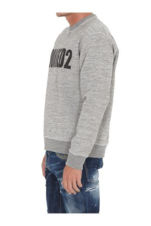 LOGO PRINT COTTON SWEATSHIRT IN GREY DSQUARED2 | -108764232 | S71GU0413S25148962