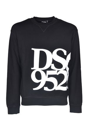 DSQ 9520 PRINT SWEATSHIRT IN BLACK DSQUARED2 | -108764232 | S71GU0418S25042900
