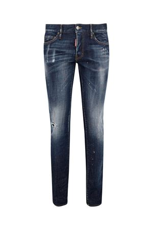 COTTON DENIM SKINNY JEANS IN BLUE