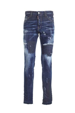 JEANS EFFETTO DESTROYED BLU S71LB0816S30342470 DSQUARED2 | 24 | S71LB0816S30342470