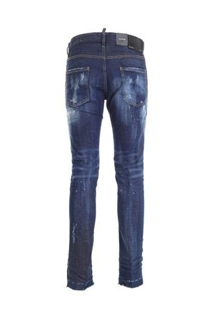 DESTROYED EFFECT JEANS IN BLUE