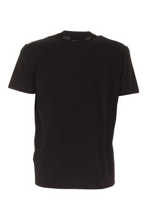 CONTRASTING PRINT TSHIRT IN BLACK DSQUARED2 | 8 | S74GD0723S22427900