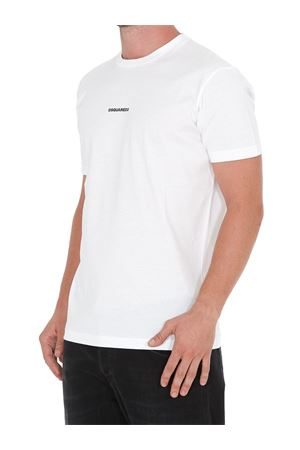 MINI LOGO LETTERING T-SHIRT IN WHITE DSQUARED2 | 8 | S74GD0769S23009100
