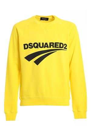 LOGO PRINT COTTON SWEATSHIRT IN YELLOW