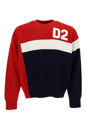 COLORBLOCK WOOL SWEATER IN MULTICOLOR
