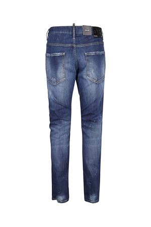 BLUE SKATER JEANS IN USED EFFECT STRETCH DENIM