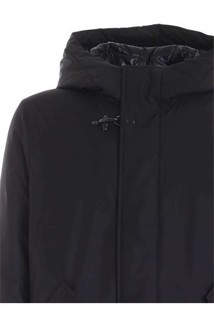 FAY HOOK DOWN JACKET IN BLACK FAY | 10000013 | NAM33411010QKJB999