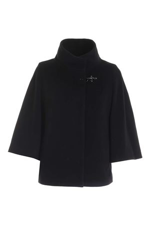 WIDE SLEEVES SHORT COAT IN BLACK FAY | 17 | NAW12414490SHNB999