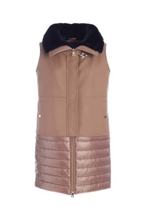 SLEEVELESS PUFFER JACKET IN BEIGE  FAY | 3 | NAW20413230SLPC811