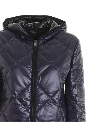 QUILTED BLUE DOWN JACKET WITH HOOD FAY | 783955909 | NAW22413870TCD2703