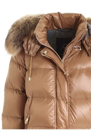 HOOD AND FUR DOWN JACKET IN BROWN FAY | 783955909 | NAW3241305UICIC811
