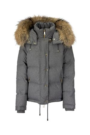 FUR HOODED PUFFER JACKET