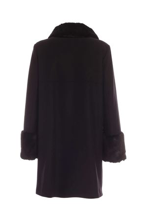 BLACK COAT WITH SYNTHETIC FUR INSERTS FAY | 17 | NAW50413900SGLB999
