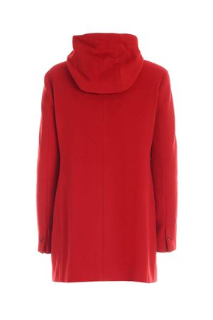 DOWN DETAIL COAT IN RED