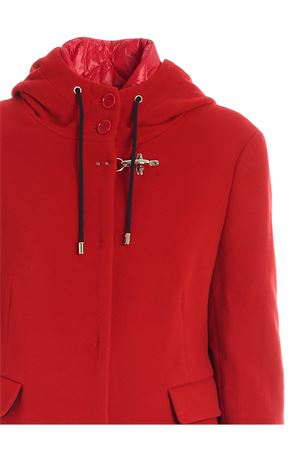 DOWN DETAIL COAT IN RED FAY | 17 | NAW53413760SHNR003