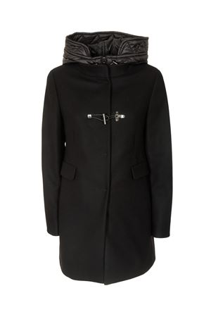 TOGGLE COAT IN BLACK WITH HOOD FAY | 17 | NAW59413430SGLB999