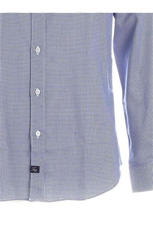 MICRO PATTERN SHIRT IN BLUE AND WHITE FAY | 6 | NCMA1412590SFXU805