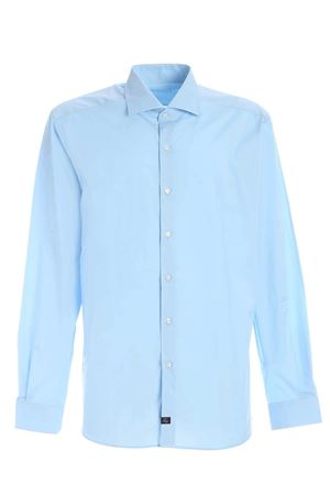 LOGO SHIRT IN LIGHT BLUE FAY | 6 | NCMA141259SORMU003