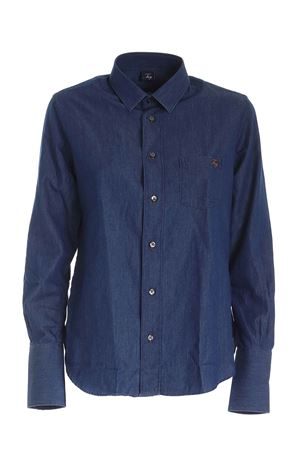LOGO DENIM EFFECT SHIRT IN BLUE FAY | 6 | NCWA141558LMJPU207