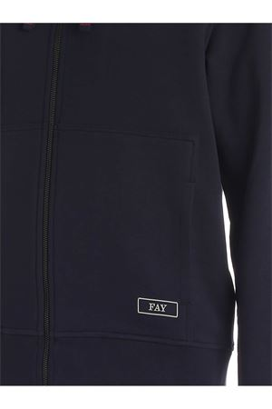 ZIPPED SWEATSHIRT IN BLUE FAY | -108764232 | NJMB5411320ROUU806
