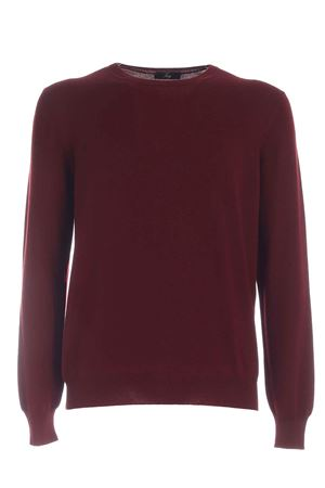 VIRGIN WOOL PULLOVER IN BURGUNDY COLOR FAY | -1384759495 | NMMC1412420CQTR008