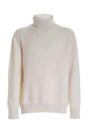 RIBBED EDGES TURTLENECK IN WHITE FAY | 10000016 | NMMC1412780SCYB004