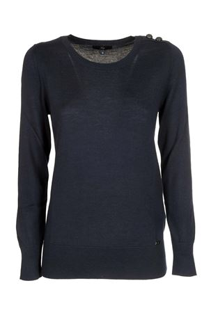 BUTTONED SWEATER IN BLUE