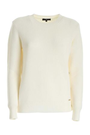 CREWNECK SWEATER IN WHITE FAY | 20000006 | NMWC1416390SLGB009