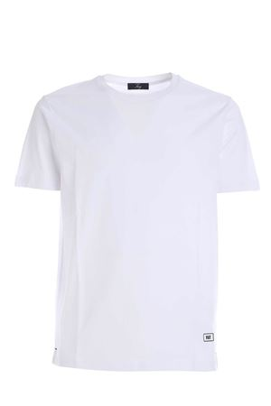 RUBBERIZED LOGO T-SHIRT IN WHITE FAY | 8 | NPMB3411360PKUB001