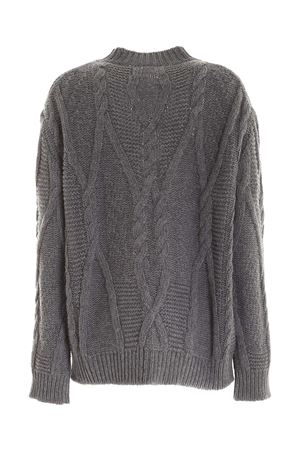 EMBROIDERY CREWNECK SWEATER IN GREY GIADA BENINCASA | -1384759495 | F0531AW003
