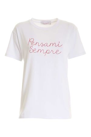 CONTRASTING EMBROIDERY T-SHIRT IN WHITE  GIADA BENINCASA | 8 | F0801T2