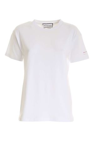 PRINT AND RHINESTONES T-SHIRT IN WHITE GIADA BENINCASA | 8 | NF1001001