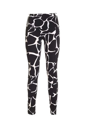 PRINT AND RHINESTONES LEGGINGS IN WHITE AND BLACK GIADA BENINCASA | 5032274 | NF2002006