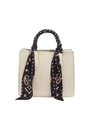 HANDBAG WITH BEIGE COCONUT PRINT GUM | 5032265 | BS1898COCCOCOWBOY360