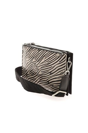 ANIMAL PRINT CLUTCH BAG IN BLACK