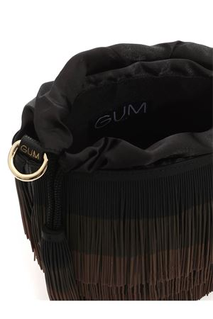 FRINGES BUCKET BAG IN BLACK AND BROWN GUM | 5032270 | BSBUCKETFRINGE166