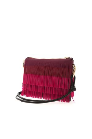 FRINGES SHOULDER BAG IN FUCHSIA