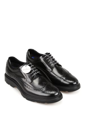 DERBY SHOES BROGUE H393 IN BLACK HOGAN | 120000001 | HXM3930BX606Q6B999