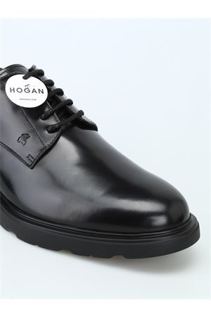 H393 BLACK DERBY SHOES HOGAN | 120000001 | HXM3930W3426Q6B999