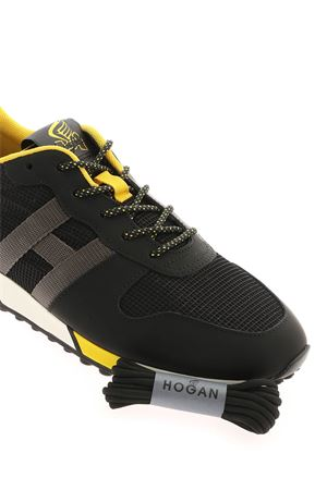 H383 SNEAKERS IN BLACK AND YELLOW HOGAN | 120000001 | HXM3830AN51OCU691P