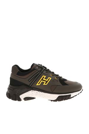 URBAN TREK SNEAKERS IN GREEN AND BLACK HOGAN | 120000001 | HXM4770CA70OF9741Z
