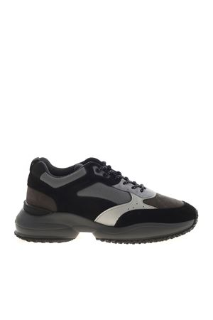 INTERACTION SNEAKERS IN BLACK AND GREY HOGAN | 120000001 | HXM5450DH10OSX837Z