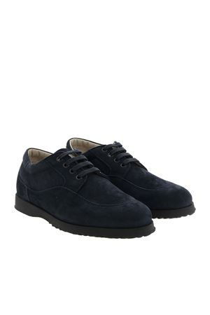 DERBY IN SUEDE BLU CON LOGO HXW00E00010CR09999 HOGAN | 120000001 | HXW00E00010CR09999