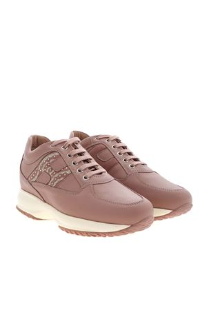 INTERACTIVE SNEAKERS IN ANTIQUE PINK HOGAN | 120000001 | HXW00N0DE30OG7M007