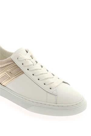 H365 SNEAKERS IN WHITE AND PLATINUM COLOR HOGAN | 5032238 | HXW3650J971OXB1556